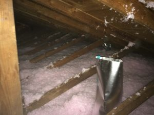 Attic Insulated with Blown-In Insulation